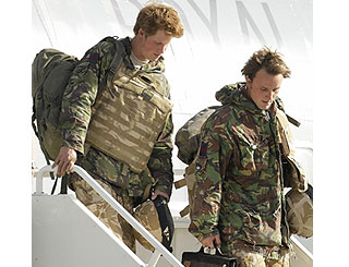 Prince Harry arrives safely back in the UK
