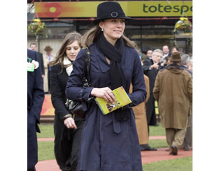 Race-fan Kate attends Cheltenham Gold Cup