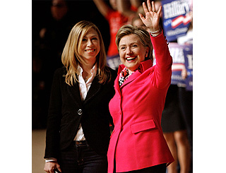 Chelsea Clinton joins mum on campaign trail