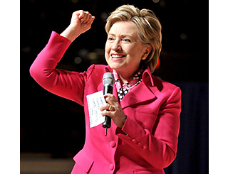 Hillary Clinton draws parallels with boxing star Rocky