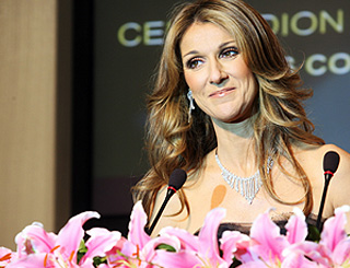 Celine Dion gives her backing to the Olympics