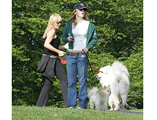 Geri and Michelle cross paths on dog duty