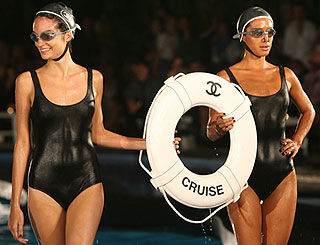 Karl Lagerfeld presents Chanel cruise line poolside