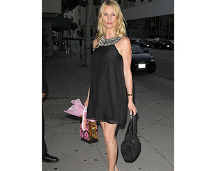Nicolette dons fabulous LBD for Beverly Hills outing