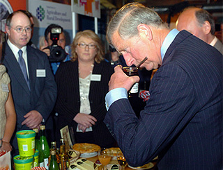 Prince Charles given a taste of Belfast
