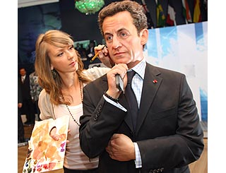 Mr Sarkozy waxwork joins those of fellow leaders
