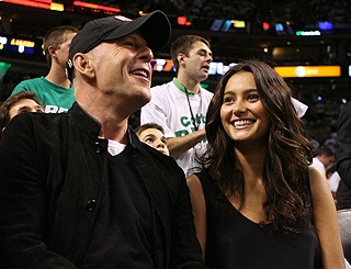 Bruce treats model love to basketball date