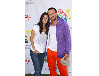 Courteney and David lend support to charity carnival