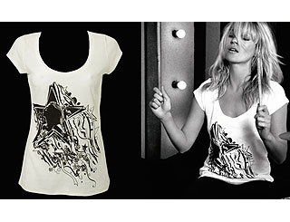 Kate Moss gets arty for a good cause