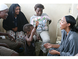 Kelly Rowland witnesses music at work in Africa