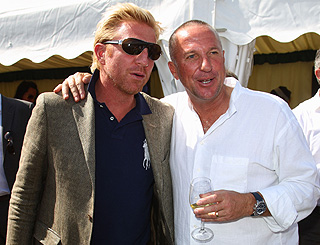 Sporting legends Boris and Ian team up at polo