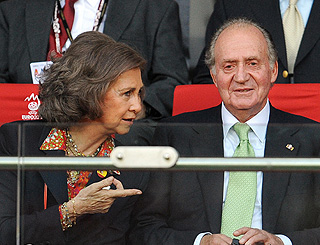 Spanish royals watch their team make history