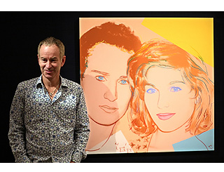 John and Tatum Warhol portrait to be auctioned