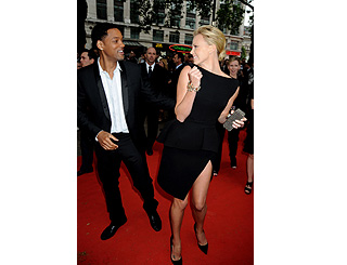 Playful Will Smith crashes Charlize's TV interview