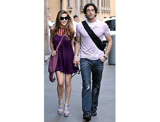 Adrien Brody and Elisa Pataky in Milan