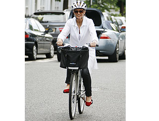 Anne Robinson settles into bike riding
