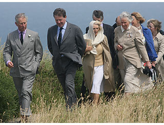 Tintagel stroll for Charles and Camilla