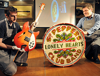 Sgt Pepper's iconic drum bangs up £541,250