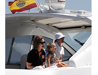 Royal ladies take in yachting action in Majorca