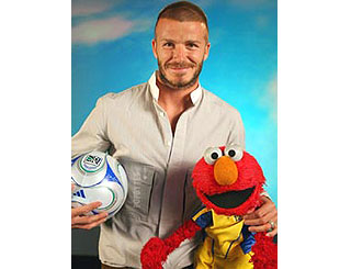 Becks meets Elmo in Sesame Street cameo
