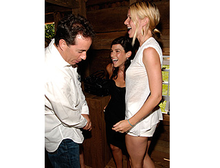 Jerry Seinfield checks out Gwyneth's fabulous pins