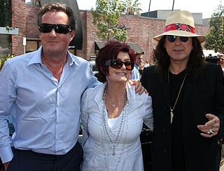 Piers Morgan lunches with Osbournes in LA