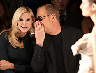 Heidi and Michael share thoughts at Project Runway