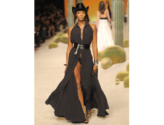 Jean Paul Gaultier turns Naomi into Paris cowgirl
