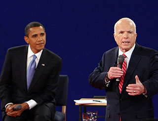 Mr Obama comes out ahead of McCain in TV debate