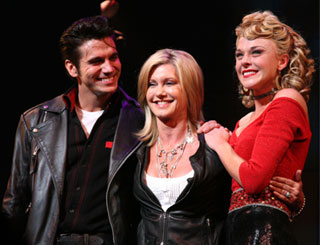 Olivia Newton-John makes a surprise visit to Broadway