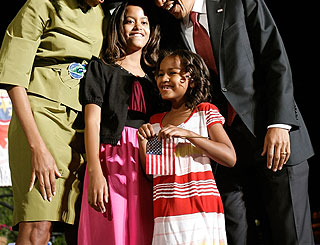TV roles for Mr Obama's daughters