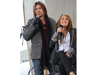 Miley Cyrus and dad Billy Ray rock Nashville
