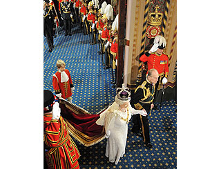 The Queen makes lavish entry to open Parliament