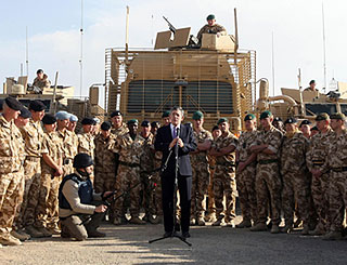 British PM joins troops on Afghan front line