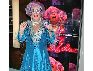 Dame Edna Everage presents her make-up line for MAC
