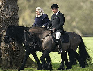 Horseback outing for the Queen at Windsor