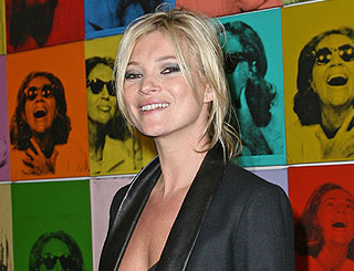 Kate Moss pays homage to Andy Warhol in Paris