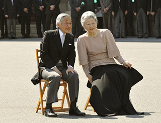Japan's emperor and empress mark 50th anniversary
