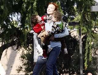 Marcia Cross has hands full with twins Eden and Savannah