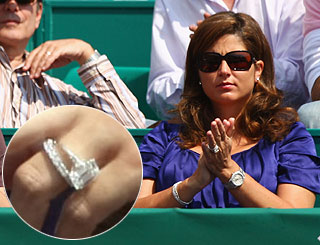Roger Federer's new wife flashes enviably hefty 'rock'