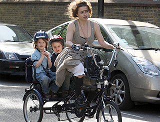 Helena Bonham Carter turns to trike transport