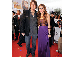 Billy Ray and Miley Cyrus present 'Hannah Montana' in Italy