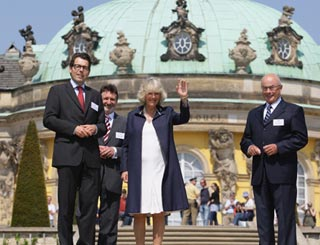 As Charles attends seminar Camilla sightsees in Germany