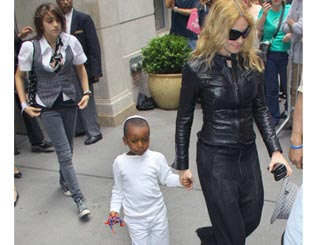 Madonna and her children take solace from Kabbalah visit