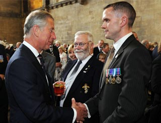 Charles helps celebrate anniversary of veterans' charity
