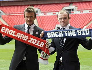 Becks and Rooney launch England's 2018 World Cup bid