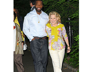 'Garden' buddies Bette Midler and 50 Cent spread green word