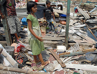 Home of Slumdog child star Rubina Ali is demolished