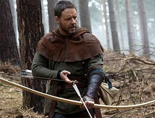 Robin Hood actor Russell has difficulty finding base in Wales