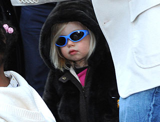 Brad and Angelina's girl Shiloh turns three